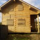 дом из бруса на свайно винтовом фундаменте киров