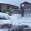 монтаж зимой винтовых сваи в стесненных условиях