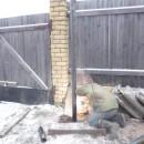 зимний монтаж винтовой сваи