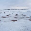 поле для монтажа винтовых свай