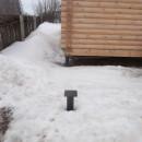 винтовые сваи под пристрой Радужный зимой 2016
